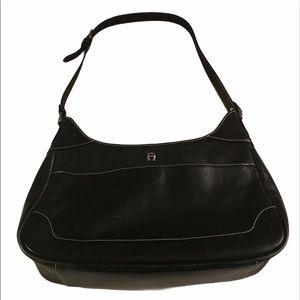 Etienne Aigner Black Purse Pocketbook Bag Leather